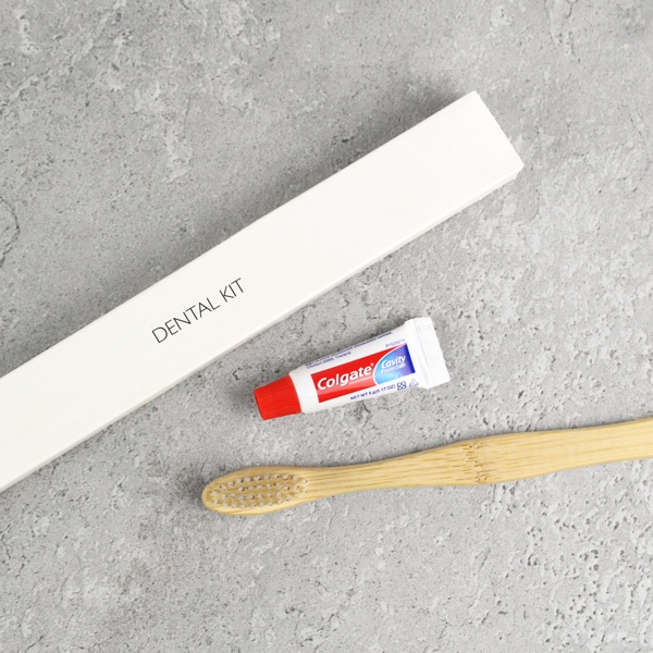 White Box Dental Kit - Toothbrush & Toothpaste
