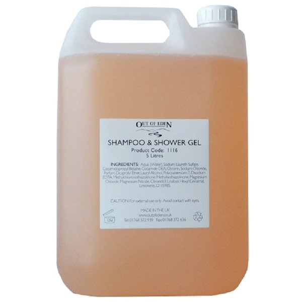Shampoo and Shower Gel, Grapefruit and Orange 5 litres
