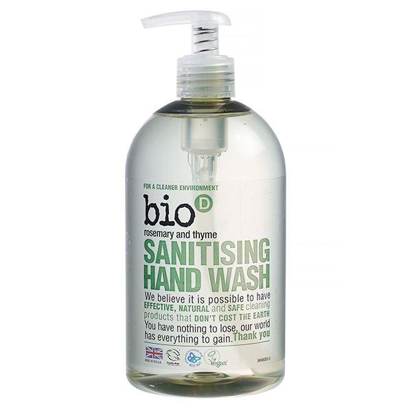 Bio D Sanitising Hand Wash Rosemary & Thyme 500ml
