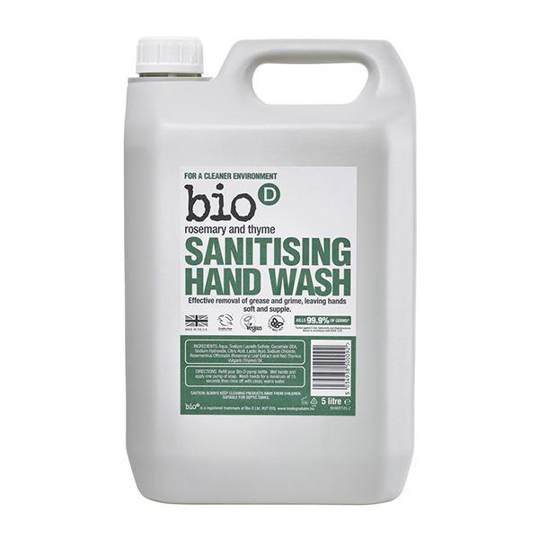 Bio D Sanitising Hand Wash Rosemary & Thyme 5 Litre
