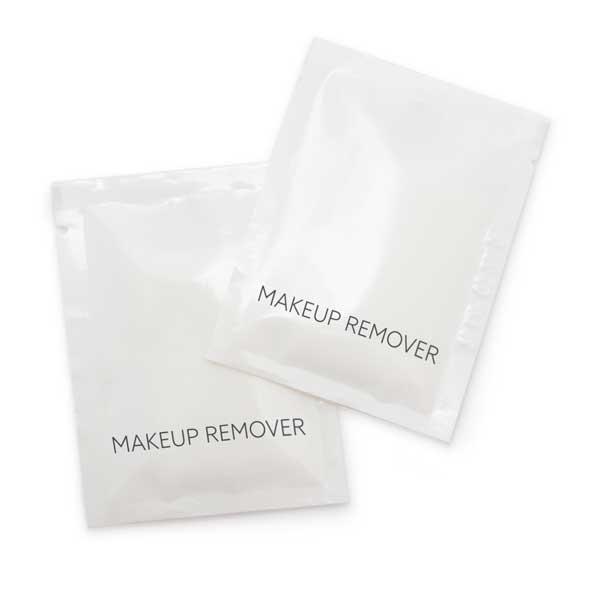 White Box Makeup Remover Sachet