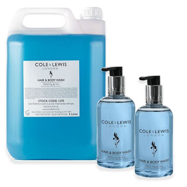 Cole & Lewis Wild Fig and Iris Hair and Body Wash 5 Litres