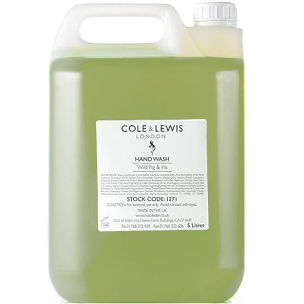 Cole & Lewis Wild Fig and Iris Hand Wash, 5 Litres