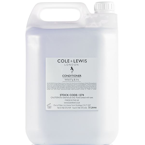 Cole and Lewis Wild Fig and Iris Conditioner, 5 Litres