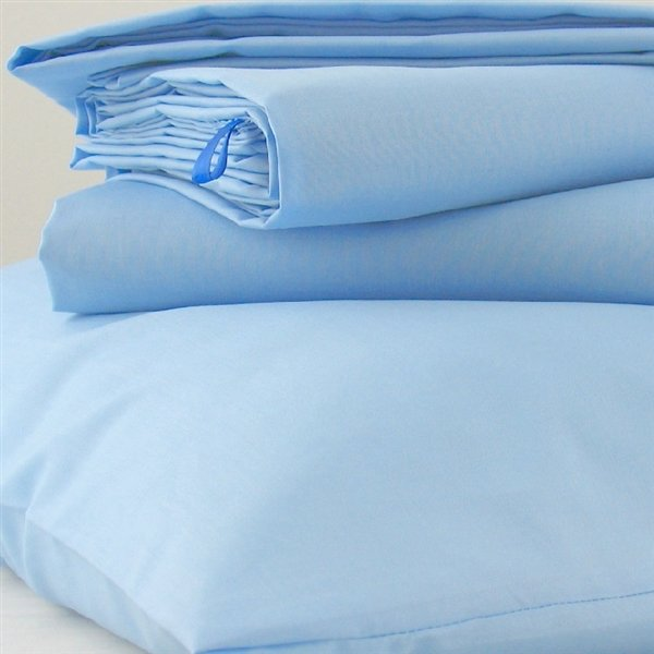 Blue Polycotton Bed Linen