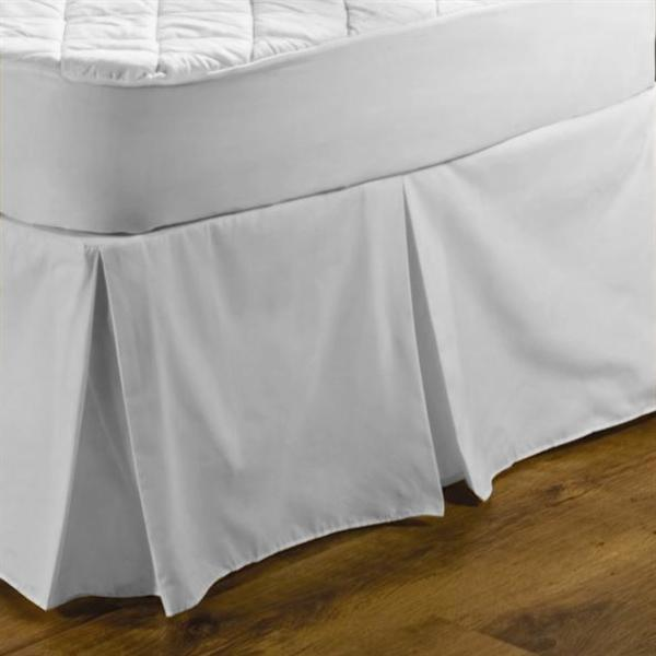 Centre Pleat Valance White