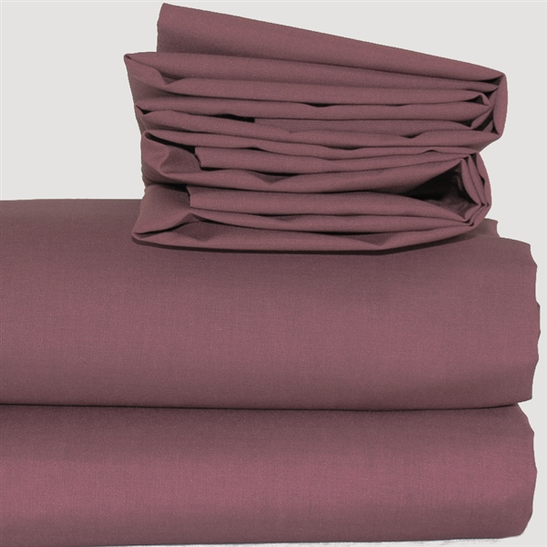 """Expressions Frilled Base Valance 16"""" Aubergine Double"""