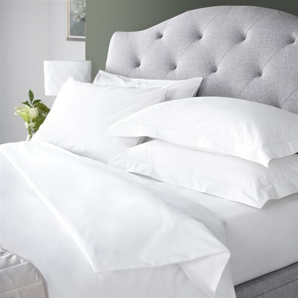 Luxury Egyptian Cotton 200 Thread Count Bed Linen White