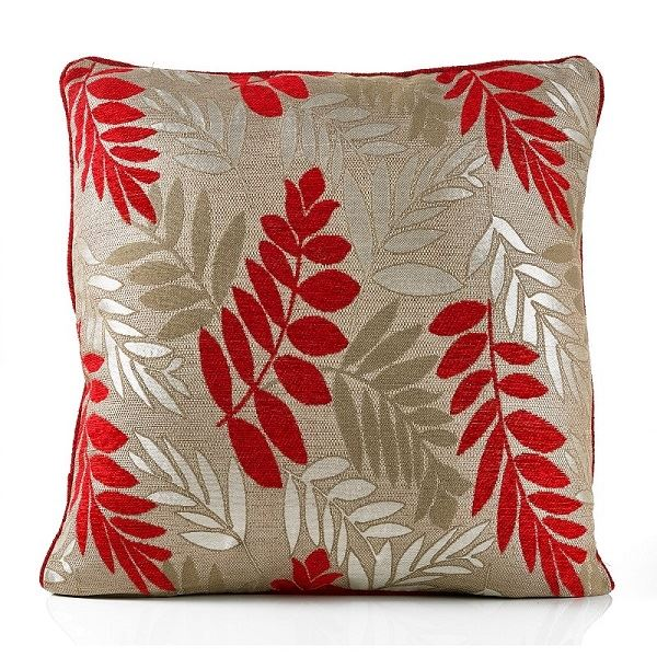 Fern Cushion Red