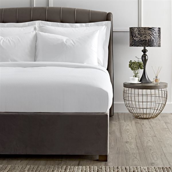 300 Thread Count Pure Cotton Micro Stripe Bed Linen