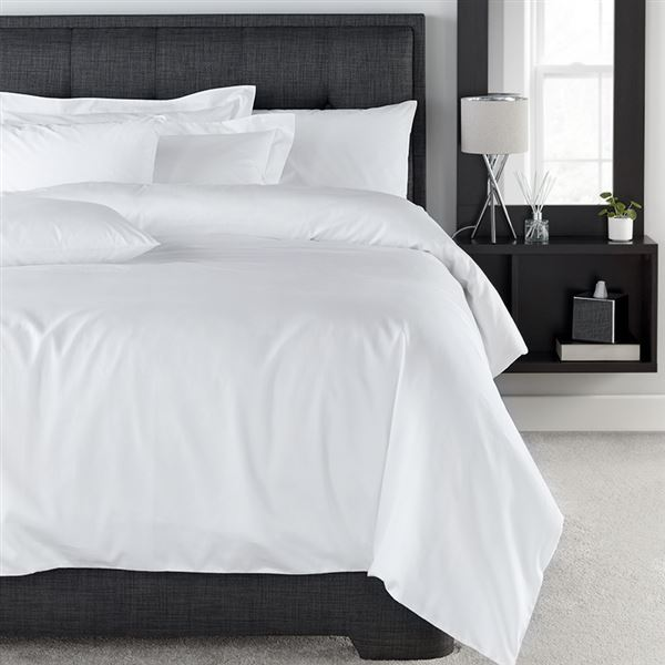 400 Thread Count Cotton Bed Linen White