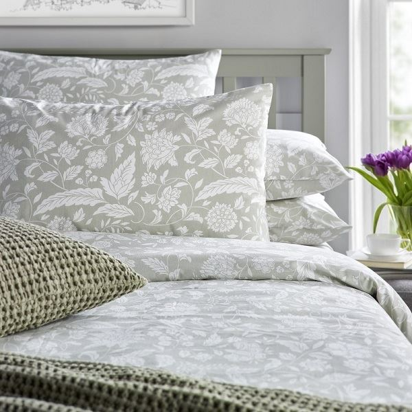 Emily Duvet Cover Set Sage Grey