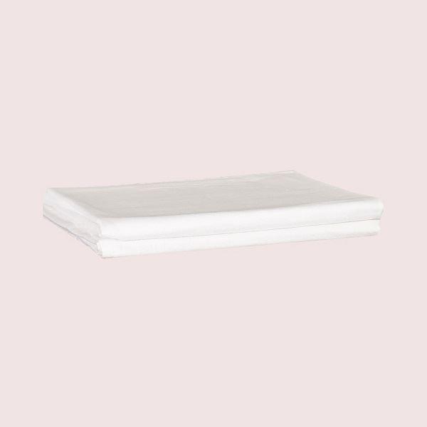 Flat Cot Sheet 100% Cotton White Pair