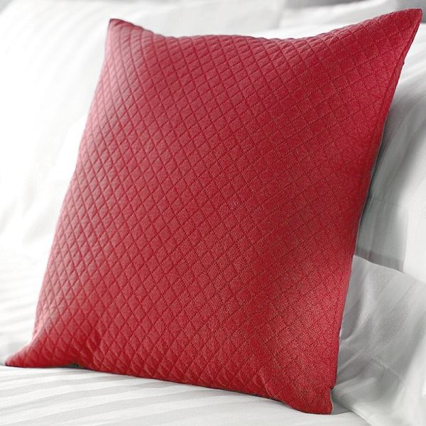 Diamond Quilted Cushions in Claret
