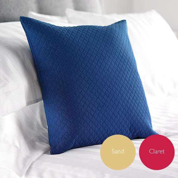 Diamond Quilted Cushions in Navy