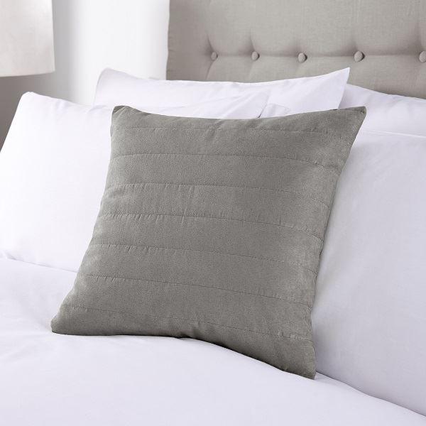 Faux Suede Cushion 40x40cm Grey