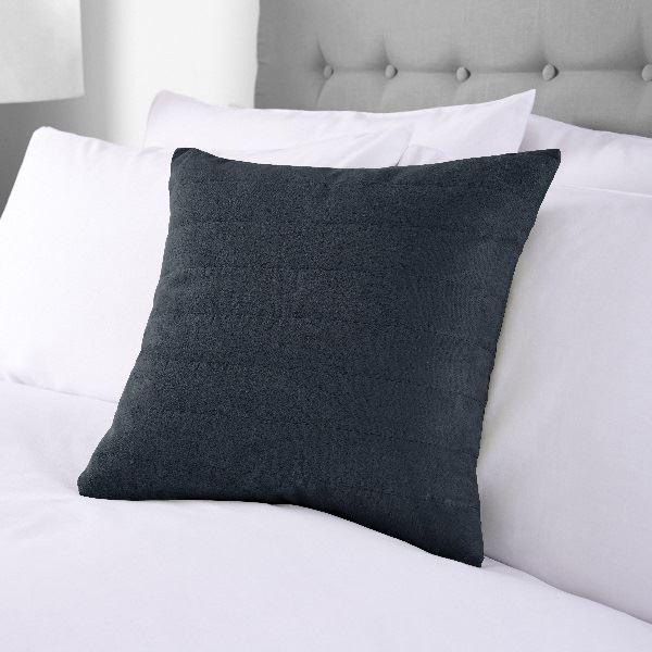 Faux Suede Cushion 40x40cm Navy