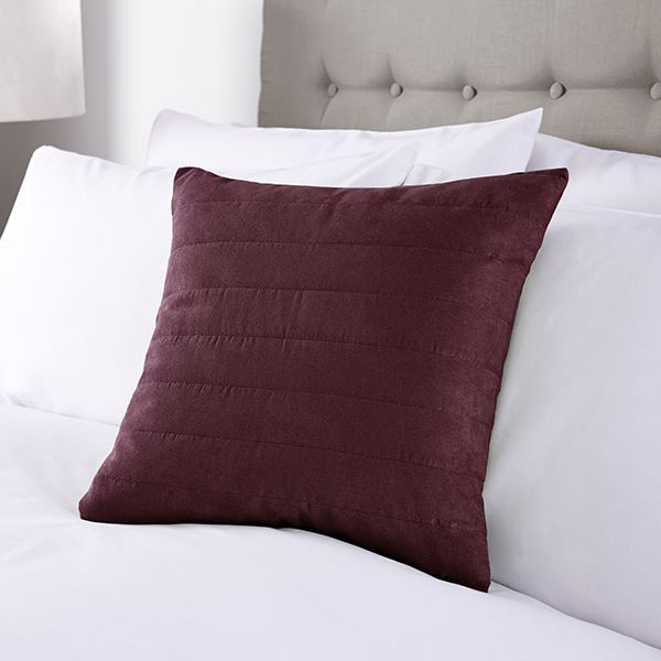 Faux Suede Cushion in Burgundy