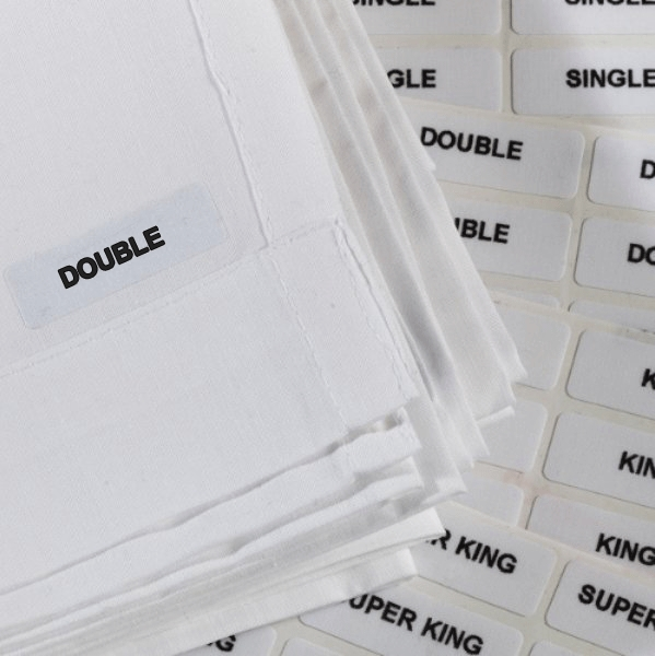 Iron on Labels - Double
