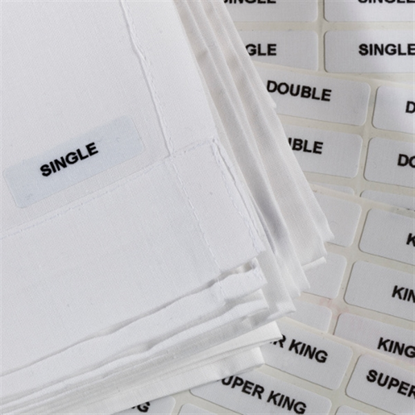 Iron On Labels - Assorted Bed Sizes