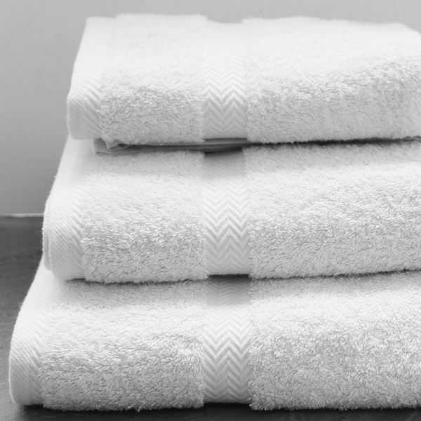 Luxury Cotton Towels and Face Cloths 600g White
