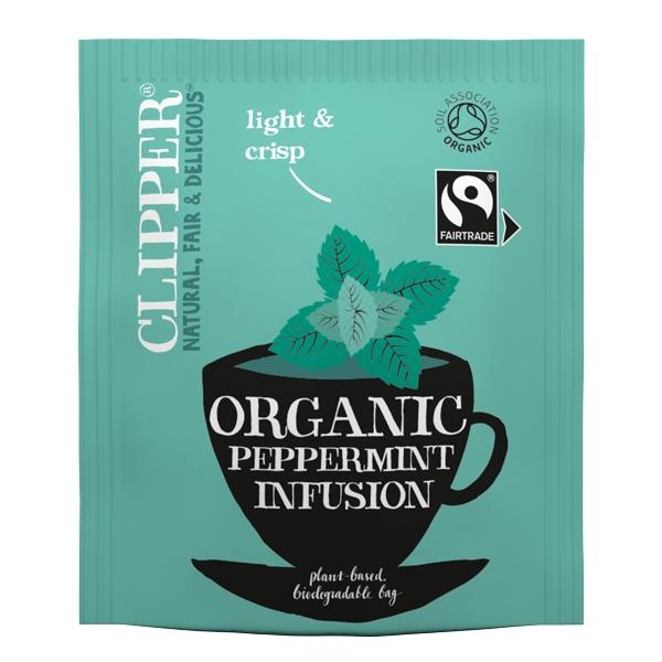 Clipper Fairtrade Organic Peppermint Tea Bags