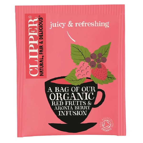 Clipper Organic Red Fruits & Aronia Berry Tea - Pack of 25