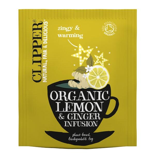 Clipper Organic Lemon & Ginger Tea