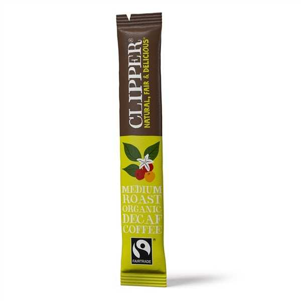 Clipper Fairtrade Organic Instant Freeze Dried Decaffeinated Coffee Sticks