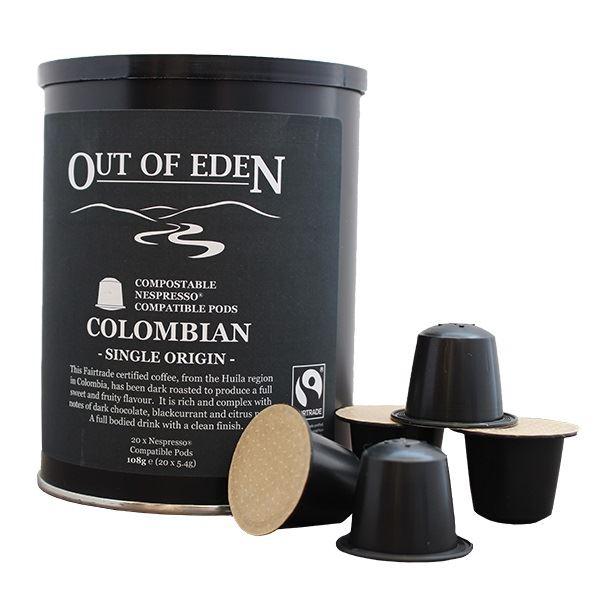 Compostable Fairtrade Dark Colombian Espresso Pods