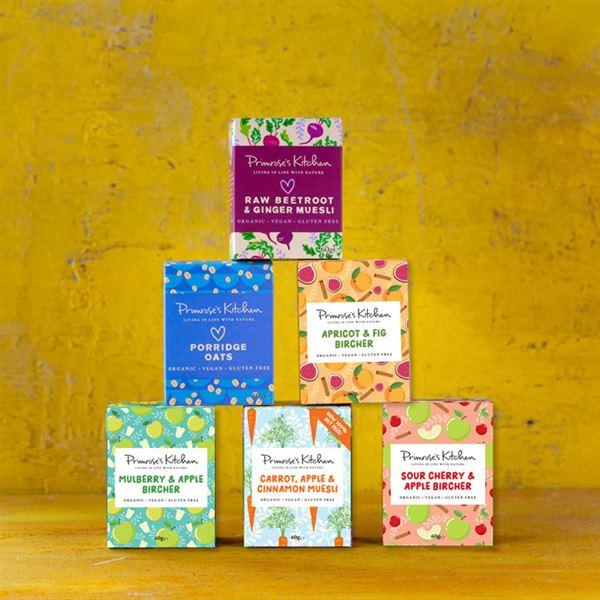 Primroses Kitchen Muesli & Granola Portion Packs - Mixed Case of 24