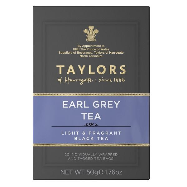 Taylors Earl Grey Tea Individually Tagged & Wrapped