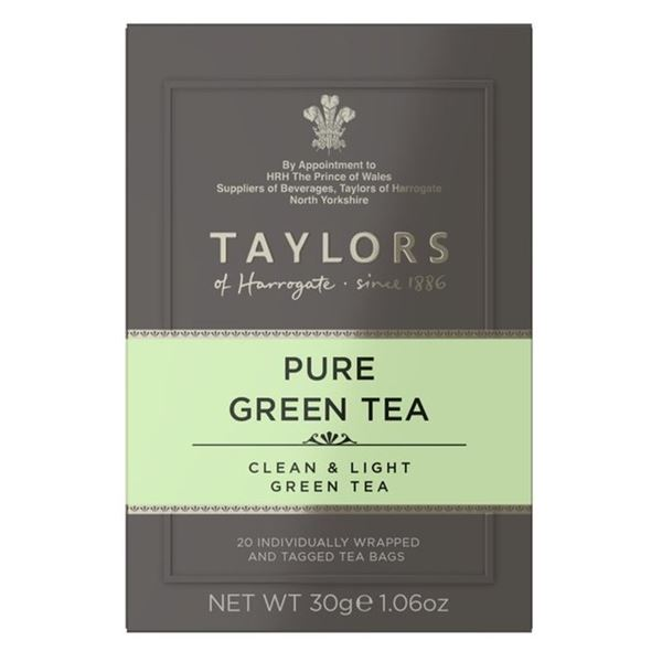 Taylors Pure Green Tea Individually Tagged & Wrapped