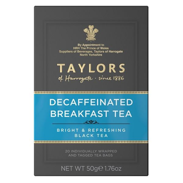 Taylors Decaffeinated Breakfast Tea Individually Tagged & Wrapped