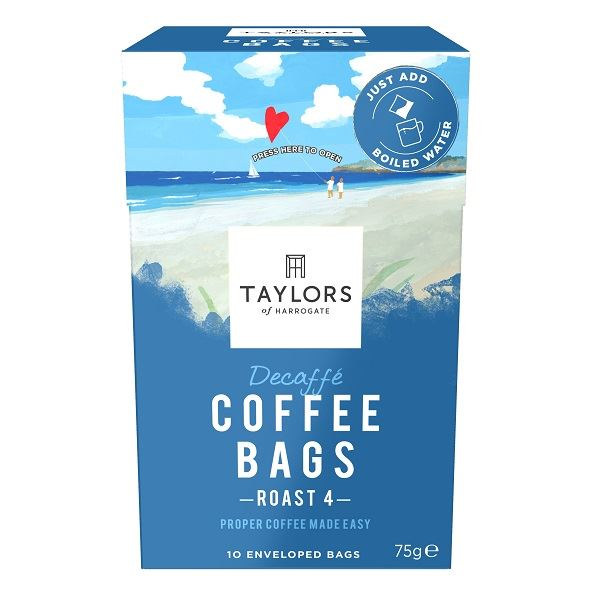 Taylors Decaffeinated Coffee Bags Individually Wrapped