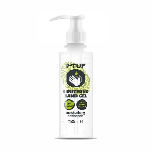 V-TUF 75% Alcohol Hand Sanitiser 250ml Pump
