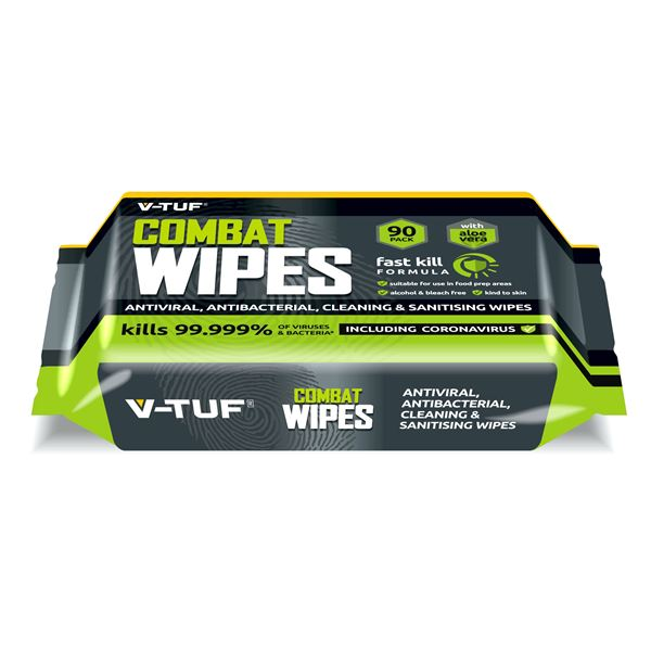 V-TUF Anti-Viral and Anti-Bacterial Wipes