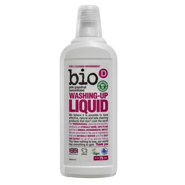 Bio D Washing Up Liquid Pink Grapefruit 750ml