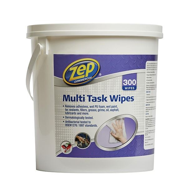 Zep Multi Task Wipes Tub of 300 Wipes