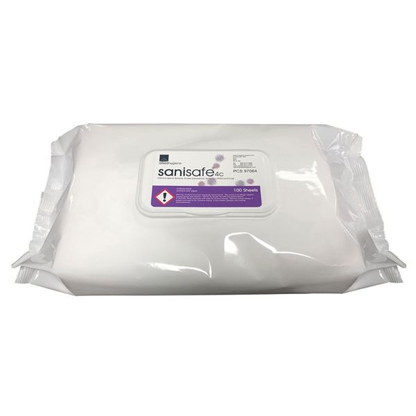 Sanisafe Anti-bacterial Wipes - Pack of 100 wipes