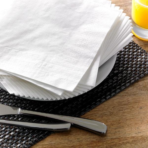 2 Ply Paper Napkins White