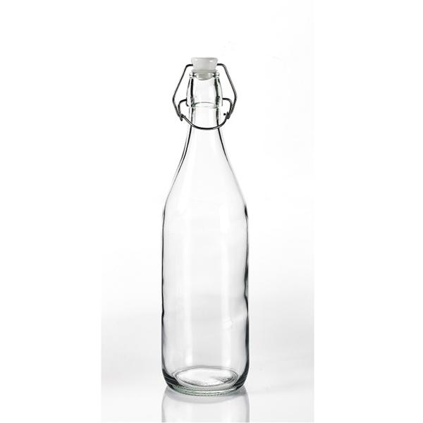 Unprinted Glass Water Bottle