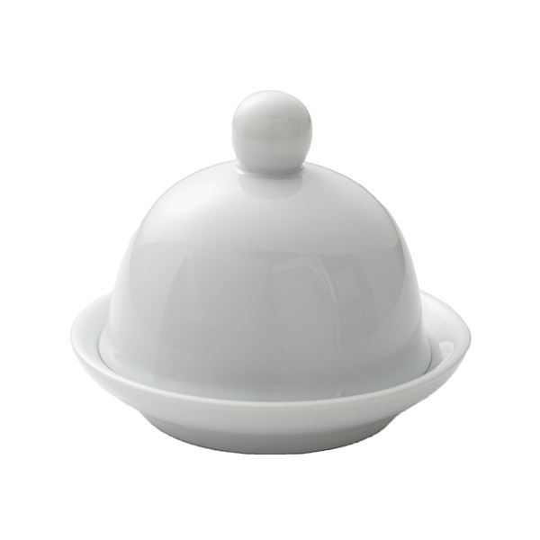 Porcelite Round Covered Butter Dish