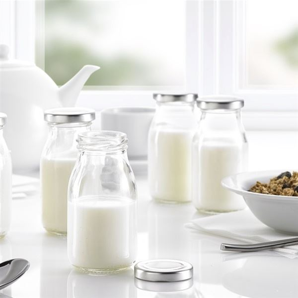 Glass Mini Milk Bottles With Lids