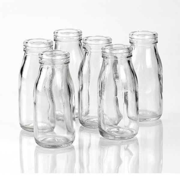 Glass Mini Milk Bottles 100ml
