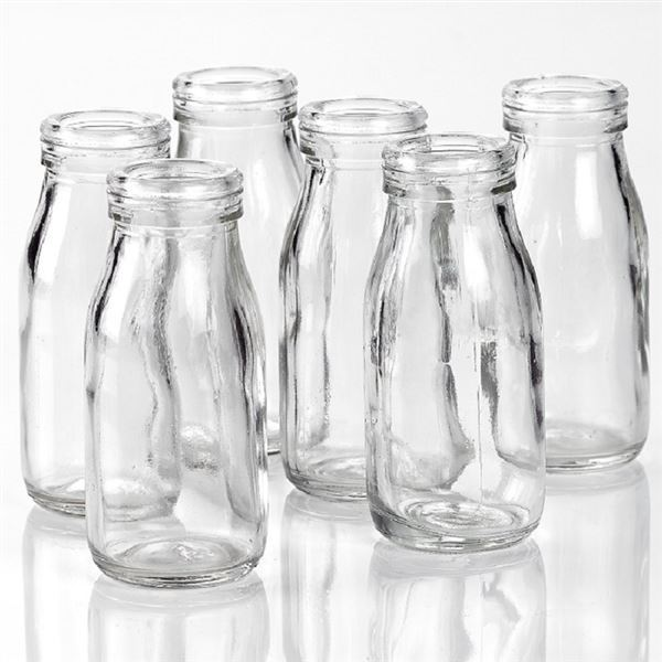 Glass Mini Milk Bottles 200ml