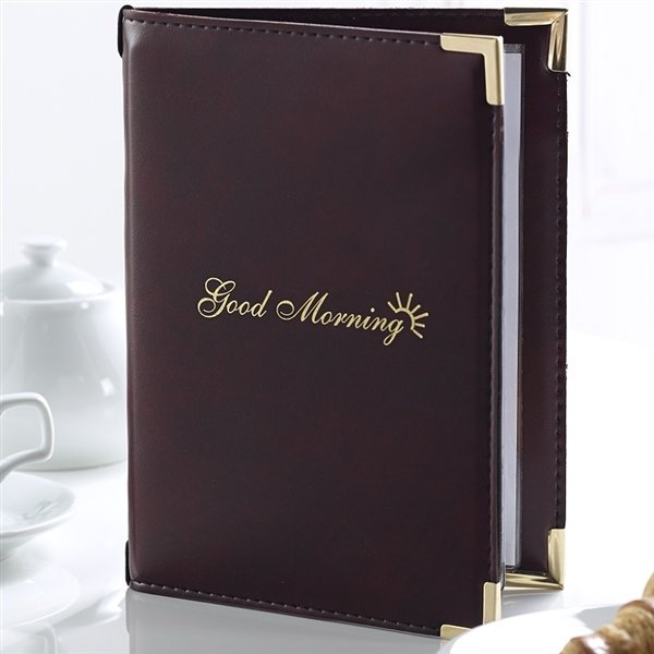 Breakfast Menu Folders