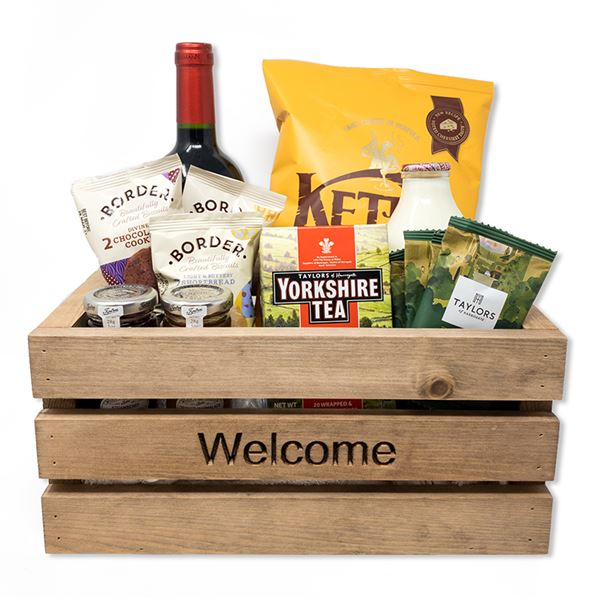 Wooden Welcome Crate