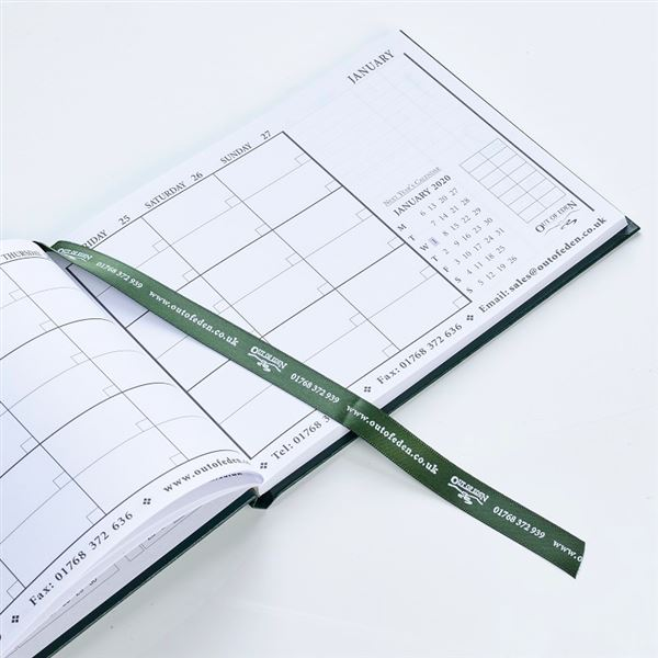 Reservations Diary 2019 A5 Dark Green