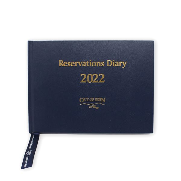 Reservations Diary 2022 A5 Navy